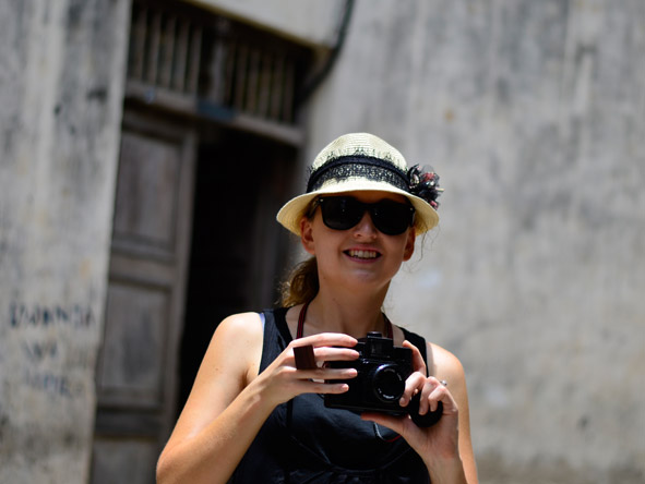 Carlien Parsons - enjoying a photography walk around Stone Town in Zanzibar